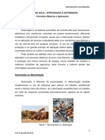 NOTAS DE AULA - INTRODUÇÃO À AUTOMAÇÃO - AULA 1
