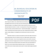 Transitional Bilingual Education in the Commonwealth of Massachusetts