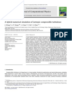 A Hybrid Numerical Simulation of Isotropic Compressible Turbulence
