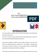 Tqm in Msil (Amit & Pranav)