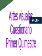 Evaluación del Primer Quimestre de Artes Visuales PDF