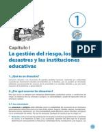 La gestión del riesgo, los desastres y las instituciones educativas
