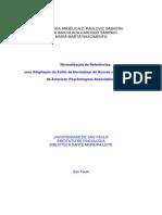 APA - Normalizacao de Referencias Bibliograficas