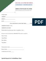 Wedding Information Basic Planning Form / VMDJ's