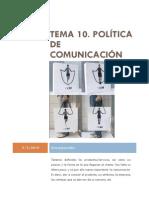 Tema 10 Politica de Comunicacion