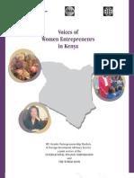 Voices of Women Entrepreneurs in Kenya (May 2006)