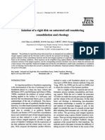 Solution of a Rigid Disk on Saturated Soil Considering Consolidation and Rheology