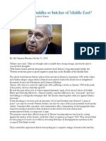 Ariel Sharon Buddha or Butcher of Middle East