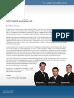 Wisco Newsletter Q4 2013