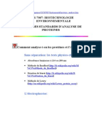 67763421 Methodes d Analyse Des Proteines