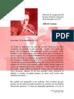 Discurso de Aceptación del Premio Nobel de Literatura - Albert Camus