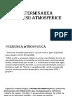 Determinarea Presiunii Atmosferice