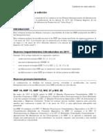 Cambios en edición 2012