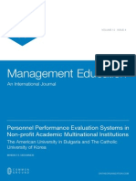 Personnel Performance Evaluation Systems in Non-profit Academic Multinational Institutions