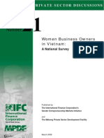 MPDF/IFC GEM Survey of Women Business Owners in Vietnam (May 2006)