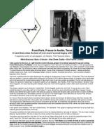 Wyldz Two-page Promo Sheet