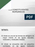 Exposicion Analisis Constituyentes Inorganicos.