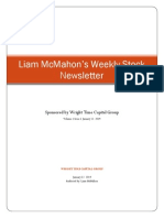 Liam McMahon's Stock Newsletter Vol. 1 Issue 1