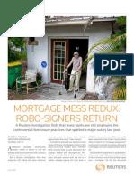 7-2011 Reuter's Special Report Foreclosure