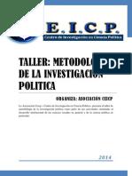 TALLER DE METODOLOGÍA CEICP