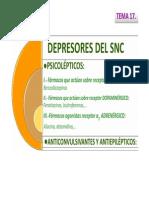 depresores  SNC