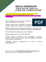 Dinamicas Para La Regulacion de Conflictos