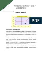 La curva caracterstica de un diodo zener y un diodo túnel