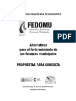 Alternativas Fortalecimiento Finanzas Municipales. Sto Domingo