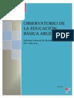 Informe Gral Observatorio Ed Básica en Argentina