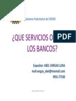 Que Servicios Ofrecen Los Bancos Abel Vargas