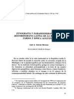 Etnografía y Paradoxografía en la Historiogrfía Latina de la República Tardía y Época Augustea