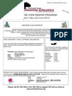 Senior Programs Brochure - Jan/Feb/March 2014