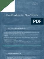 notes 1 - la classification des tres vivants