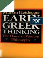 Heidegger, Martin - Early Greek Thinking (Harper