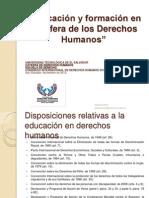Educación y formación en la esfera de los DDHH CONGRESO INTERNACIONAL LOGO