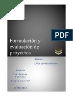 Deber de Formulacion y Evaluacion de Proyectos