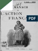 Almanach de l Action Francaise - 1910