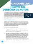 El Dominio Publico y los límites de Derecho de Autor