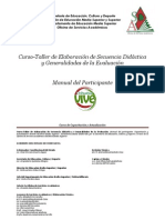ELABORACIÓN DE SECUENCIAS DIDÁCTICAS (Manual del participante 2012)