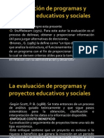 Evaluaci{on de Programas y Proyectos Educativos