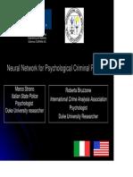 StranoNeural Network Criminal Profiling