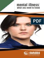 Mental Illness Brochure