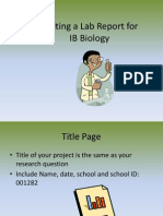 Writing a Lab Report for IB Bio.ppt