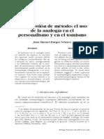 Analogía en el personalismo y en el tomismo