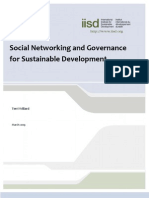 Social Networking and Governance for Sustainable Development