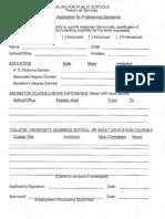 Professional Development Form
