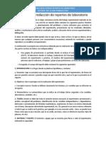 Guía para la redacción de reportes de laboratorio