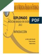 EBM-General Introd DiplomaMBE 2013