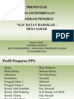Struktur Pembina Generus 2014
