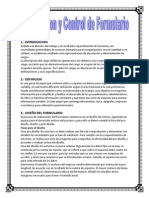 Elaboracion y Control de Formulario